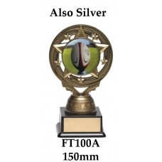 Rugby Trophies FT100A - 150mm Also 165mm & 180
