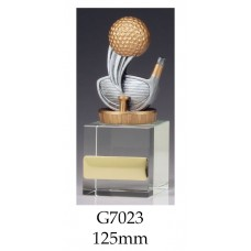 Golf Trophies Crystal G7023 - 125mm Also 160,, & 175mm