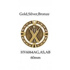 Cricket Medals HV6064AG,AS,AB - 60mm