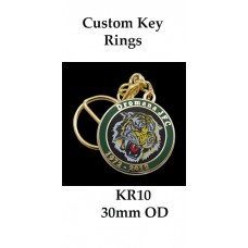 KR10 Key Rings, Custom Logo