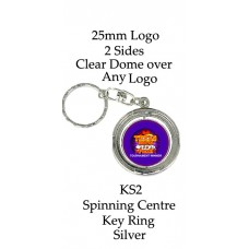 Key Rings Silver Club or Corporate Logo - KS2