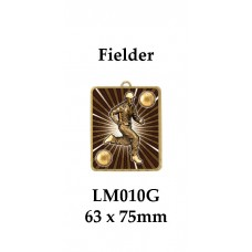 Cricket Medals Bowler LM011G, - 63mm x 75mm
