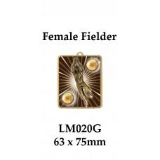 Cricket Medals Fielder LM020G, - 63mm x 75mm