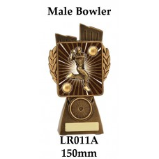 Cricket Trophies Male Bowler LR011A - 150mm Also 175mm 210mm & 245mm
