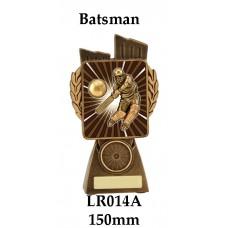 Cricket Trophies Batsman LR014A - 150mm Also 175mm 210mm & 245mm