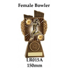 Cricket Trophies Female Bowler LR015A - 150mm Alkso 175mm 210mm & 245mm