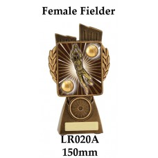 Cricket Trophies Female Fielder LR020A - 150mm Also 175mm 210mm & 245mm