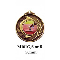 Athletics Medals M101G,S or B - 50mm