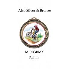 BMX Medals M102GBMX, S or B - 70mm