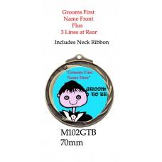 Novelty Medal Groom To Be - M102GTB - 70mm