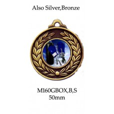 Boxing Medals - M160GBOX - 50mm