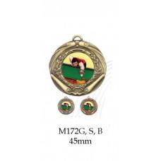 Billiards Medals M172G, S, B - 45mm