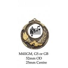 Music Medals M411GM, SM & BM -  52mm