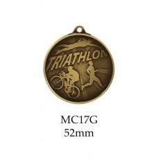 Triathlon Medal MC17G S or B - 70mm Also Silver & Bronze