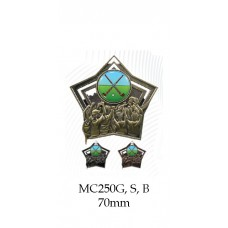 Hockey Medals MC250G, S or B - 70mm