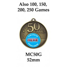 Soccer Medals MC50G, S or B  52mm