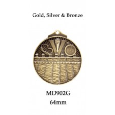 Swimming Medals MD902G - 64mm