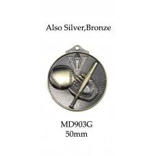 Baseball Softball Medals MD903G,S,B - 52mm