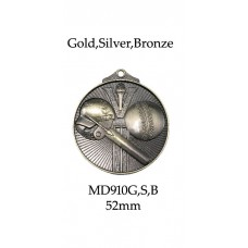 Cricket Medals MD910G, S or B - 52mm