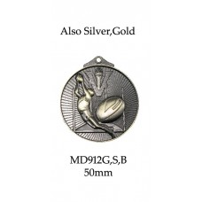 AFL Aussie Rules Medals MD912G, S or B  50mm