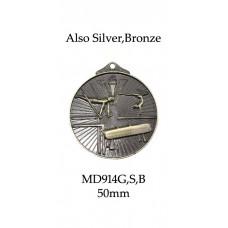 Gymnastics Medals MD914G, S or B  52mm