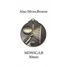 Volleyball Medals MD915G, S or B  52mm