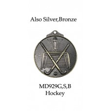 Hockey Medals MD929G, S or B - 52mm
