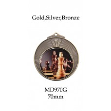 Chess  Medals Gold,Silver Bronze MD970G