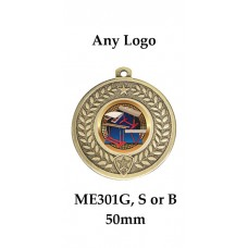 Medals Any Logo ME301G, S & B - 50mm