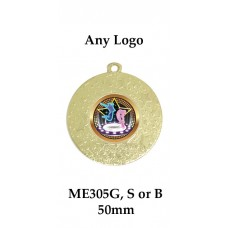 Medals Any Logo ME305G, S or B - 50mm