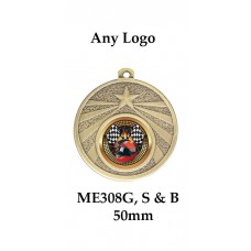 Medals Any Logo ME308G, S or B - 50mm