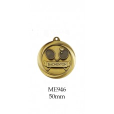 Badminton Medals ME946G - 50mm