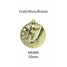 Athletics Medals MH901G,S or B - 52mm