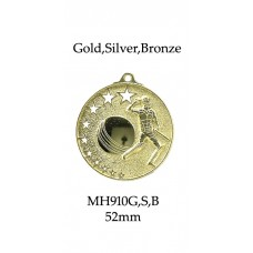 Cricket Medals MH910G, S or B - 52mm