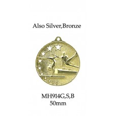 Gymnastics Medals MH914G, S or B  52mm