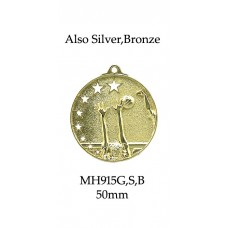 Volleyball Medals MH915G, S or B  52mm