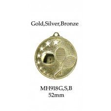 Tennis Medals MH918G, S or B  52mm