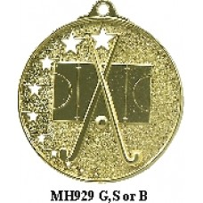 Hockey Medals MH929G, S or B - 52mm