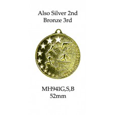 Athletics Medals Little Athletics MH941G, S or B  52mm