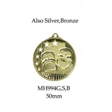 Drama Medals MH994G, S or B - 50mm