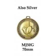 Rugby Medals Prestige MJ50G - 70mm
