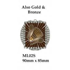 Badminton Medals ML02G - 90mm x 85mm