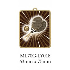 Tennis Medals ML70G-LY018 - 63mm x 75mm