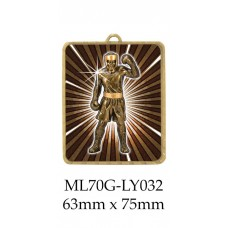 Boxing Medals - ML70G-LY0032 - 63mm x 75mm