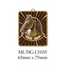 Equestrian Medals ML70G-LY035 - 63mm x 75mm