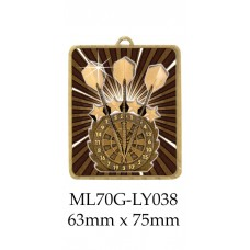 Darts Medals ML70G-LY038 - 63mm x 75mm