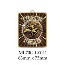 Athletics Medals ML70G-LY041 - 63mm x 75mm
