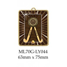 Hockey Medals ML70G-LY044 - 63mm x 75mm