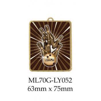 Ten Pin Medal ML70G-LY052 - 63mm x 75mm