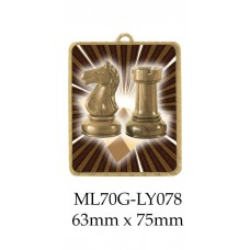 Chess  Medals ML70G-LY078 - 63mm x 75mm